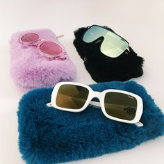 #QUAYXKYLIE AS IF!, UNBOTHERED, & 20'S with faux fur soft zip case | Quay Australia