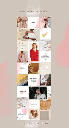 27 ideas fashion design portfolio file for 2019 Instagram Design, Instagram Feed Layout, Feeds Instagram, Instagram Grid, Insta Instagram, Marketing Logo, Social Media Template, Social Media Design, Web Design