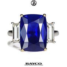 "Bayco Jewels (@baycojewels) on Instagram: Featured is ""The Velvet Blue"" a 10 carat cushion Kashmir sapphire. #bayco #baycojewels #highjewelry #hautejoaillerie #highjewellery #finejewelry #luxury #kashmir #kashmirsapphire #newyork #themostpreciousstonesintheworld"