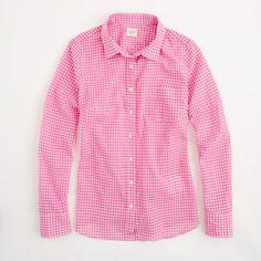   Pink Gingham Shirt   JCrew Factory 2013  