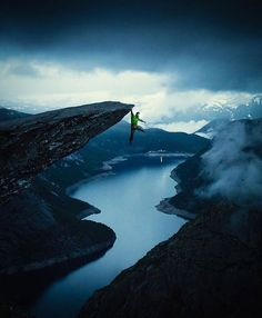 We are on Facebook Link on Bio 👆🏻👆🏻 Trolltunga, Norway 🇳🇴 Photograph By @janvincentkleine #natgeography