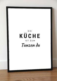 Druck+Print+KÜCHE+TANZEN+von+PAP-SELIGKEITEN+–+Poster,+Drucke,+Postkarten+auf+DaWanda.com