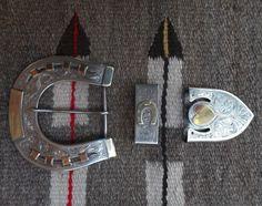 heart & horseshoe silver & 14K yellow gold buckle