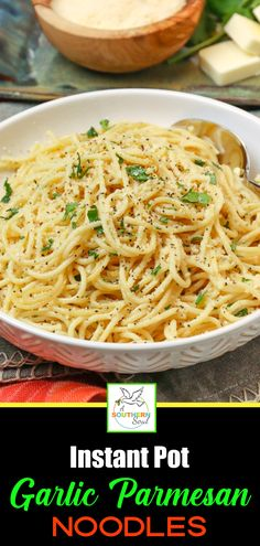 Instant Pot Garlic Parmesan Noodles - A Southern Soul Instant Pot Garlic Parmesan Noodles pot recipes Parmesan Noodles, Garlic Parmesan, Garlic Chicken, Garlic Soup, Garlic Noodles, Garlic Pasta, Garlic Butter, Roasted Garlic, Garlic Bread