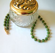 Jade Nephrite Beaded Necklace