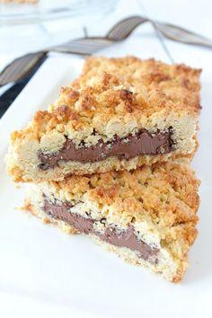 Sbriciolata à la Pâte à Tartiner {ou Gâteau Émietté à la Pâte à Tartiner façon Crumble} - Chocociframboise | Le blog