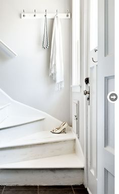 Vintage white stairs