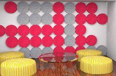 Space Dividers, Divider Screen, Wall Patterns, Wool Felt, Biodegradable Products, Brooklyn, Wall Decor, Screens, Circles