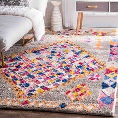 nuLOOM Soft and Plush Handmade Moroccan Grey Shag Rug x (Grey), Size x (Synthetic Fiber, Geometric) Grey Shag Rug, Shag Rugs, Rugs Usa, Buy Rugs, Contemporary Rugs, Online Home Decor Stores, Cool Rugs, Rugs On Carpet, Carpets