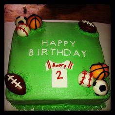 Ball themed birthday cake