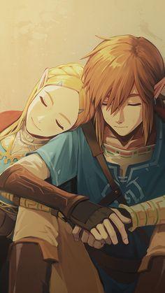 Link and Zelda/ Stay by my side/ Be my hero #zelda #breathofthewild