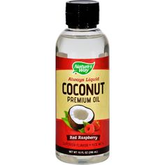 Natures Way Coconut Oil Premium Red Raspberry 10 Oz