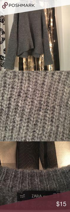 ZARA grey sweater ZARA knit grey over sized sweater Zara knit Sweaters