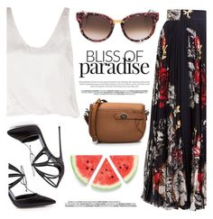 """""""Bliss Of Paradise"""" by firstboutique ❤ liked on Polyvore featuring Thierry Lasry, Loro Piana, Summer and maxiskirt"""