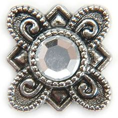 Metal Slider Bead WSwarovski Crystal 10Pkg  FlowerCrystal ** You can get additional details at the image link. (This is an affiliate link) #BeadingJewelryMaking