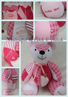 Baby Clothes Memory Bears › Cwtch & Cherish ‹ Handmade keepsake memory bears Cardiff