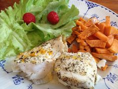 White fish with orange and thyme