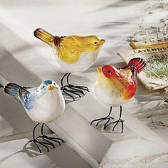 Set of 3 Bird Figurines | www.countrydoor.com