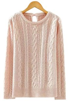 Lace-Up Solid Color Sweater