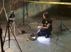 CSI Season 15 Behind The Scenes-- Jorja Fox at work on CSI