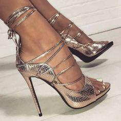 high heels – High Heels Daily Heels, stilettos and women's Shoes Lace Up Heels, Strap Heels, Pumps Heels, Ankle Strap, Stiletto Heels, Gold Heels, Trend Fashion, Fashion Shoes, Fashion Women