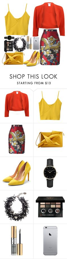 """a lady"" by miss-fairytale on Polyvore featuring Oscar de la Renta, Dsquared2, N°21, Rupert Sanderson, ROSEFIELD, Black, Bobbi Brown Cosmetics and Yves Saint Laurent"