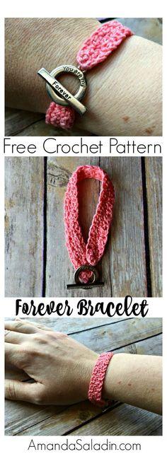 Free Crochet Pattern - Forever Bracelet