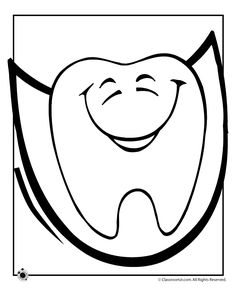Free happy tooth pattern for my DH BFF