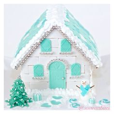 My version of ginger bread house! For recipes, ideas & more FOLLOW me @sosweetbites on Instagram!