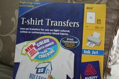 instructions for transferring designs from the computer - and USE AVERY PAPER (it makes a difference)