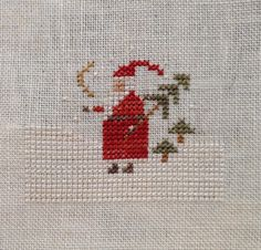 Reindeer Games--Santa from With Thy Needle and Thread  Finished December 2015