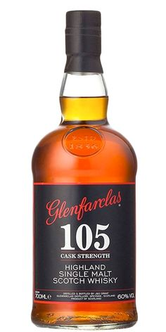 """The Glenfarclas 105 is a deep Whisky with Sherried undertones. This smooth Golden Liquid is complimented perfectly with a little drop of water, to really allow the palate to get to the depths of the taste. In 2004, it was named Malt Maniacs """"Bang for your buck"""", a testament to its quality and affordability."""