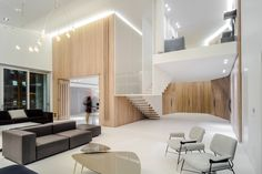 Completed in 2016 in Lebanon. Images by Wissam Chaaya . The project is an interior refurbishment of a two floors penthouse for a family of four, located in Wadi Abu Jamil in Beirut Central District. The...