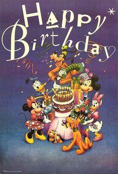 All the best for your birthday sayings - Geburtstagsgrüße - Happy birthday Disney Birthday Wishes, Happy Birthday Mickey Mouse, Happy Birthday Kids, Happy Birthday Posters, Happy Birthday Pictures, Happy Birthday Messages, Happy Birthday Quotes, Happy Birthday Greetings, Happy Birthday Cartoon Images