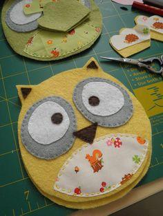Owl in progress by Katia Donohoe, via Flickr