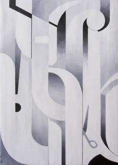 "Saatchi Art Artist Javier Pavón; Painting, """"Fuste tipográfico"""" #art"