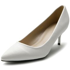 Ollio Women's Shoe D'Orsay Pointed Toe Simple Mid Heel Pump - Listing price: $22.99 Now: $18.99