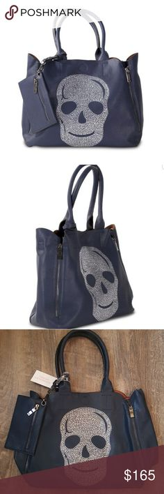 b166882182a7 Spotted while shopping on Poshmark  New Kimberley Model Navy Crystal Skull  Bag Tote!