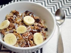 Funky Monkey Baked Oatmeal - Breakfast with chocolate and bananas... And peanut butter? Sign me up. I'm kind of a peanut butter freak.