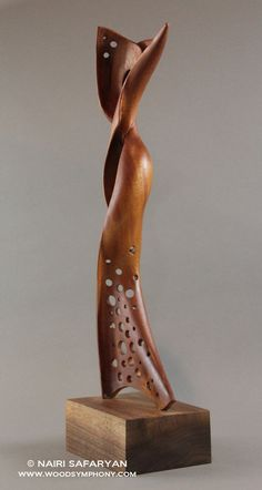 NAIRI SAFARYAN #sculpture #wood For more information, please visit www.woodsymphony.com or www.nairisartstudio.com