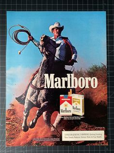 Advertising Archives, Print Advertising, Print Ads, Vintage Cigarette Ads, Vintage Ads, Vintage Posters, Marlboro Cowboy, Marlboro Man, Marlboro Lights