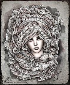Tekening: Zodiac ~10: Schorpioen 24-10 / 22-11 (Olka Kostenko)~