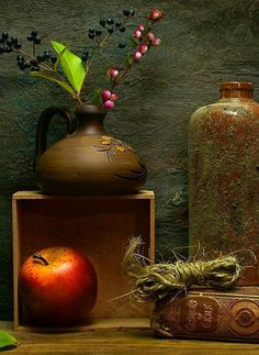 magazine spread still life of foods and grains on wood, stone, burlap slate metal Fruit Photography, Still Life Photography, Creative Photography, Still Life Drawing, Still Life Art, Double Exposition, Still Life Images, Art Addiction, Nature Drawing