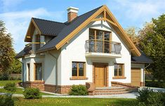 Zdjęcie projektu Juliusz Mały WRP1480 House Outside Design, Tiny Living, Home Fashion, Interior And Exterior, House Plans, Sweet Home, How To Plan, Mansions, Nice