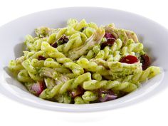 Gemelli with Chicken, Kale Pesto and Olives recipe from Giada De Laurentiis via Food Network