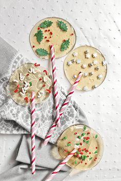 Receta fácil de piruletas de Navidad