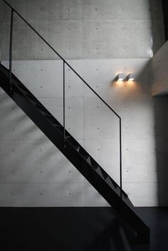 Staircase & concrete wall http://thisismyfuturehouse.com/post/15075258530