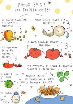 """l'illustratrice e crafter trevigianaEnrica Trevisan interpreta una  salsa messicana """"Pico de gallo""""."""