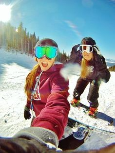 Skiing with my best friend...this will happen: