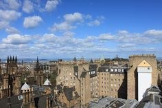 It's Spring, it's sunny and the views from our rooftop today are magnificent! - Edinburgh, Scotland